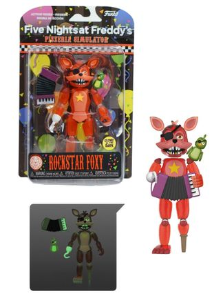 Five Nights at Freddy's Pizzeria Simulator - Rockstar Foxy Translucent Glow Action Figure, 15cm