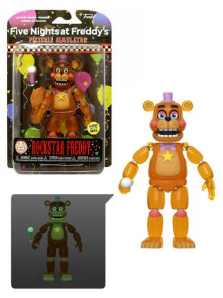 Five Nights at Freddy's Pizzeria Simulator - Rockstar Freddy Translucent Glow Action Figure, 15cm