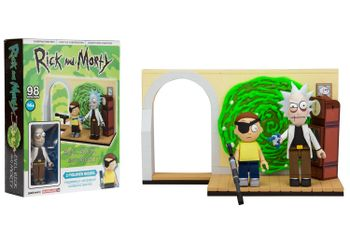 Rick and Morty - Evil Rick and Morty Construction Set incl. 2 Figures, 98 Pieces