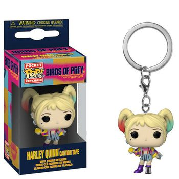 POP! Pocket Keychain: Birds of Prey - Harley Quinn Caution Tape
