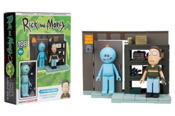 Rick and Morty - Smith Family Garage Rack Construction Set incl. 2 Figures, 108 Pieces