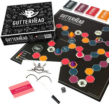 Gutterhead - The Fiendishly Filthy Drawing Game, 4-16 Players