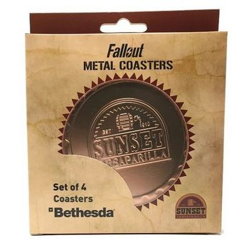 Fallout - Sunset Sarsaparilla Metal Coasters 4-Pack, 89mm