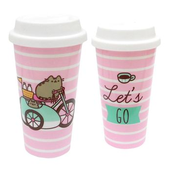 Pusheen - Let's Go Plastic Travel Mug, 450ml