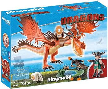 Playmobil: DreamWorks Dragons - Snotlout, Hookfang and Sheep, 33 Pieces