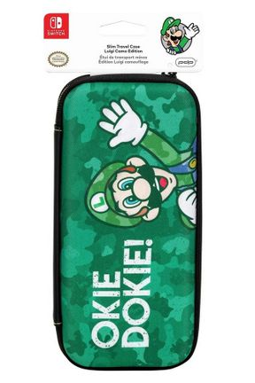 PDP Slim Travel Case - Luigi Camo Edition (Switch)