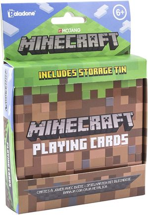 Playing Cards in Metal Case - Minecraft
