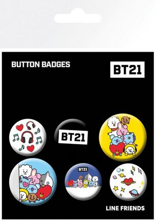 Badges 6-Pack - BT21, 2x32mm x 4x25mm