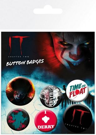 Badges 6-Pack - It Chapter Two, 2x32mm x 4x25mm