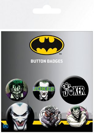 Badges 6-Pack: DC Comics - Joker, 2x32mm x 4x25mm