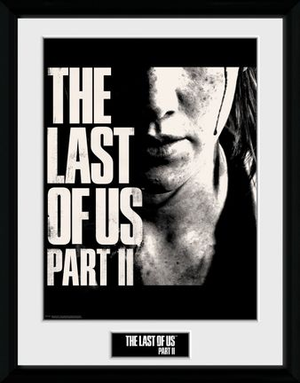 Framed Print: Last of Us Part II - Ellie's Face, 30x40cm