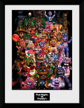 Framed Print: Five Nights at Freddy's - Ultimate Group, 30x40cm