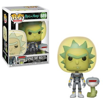 POP! Animation: Rick and Morty - Space Suit Rick with Snake Vinyl Figure