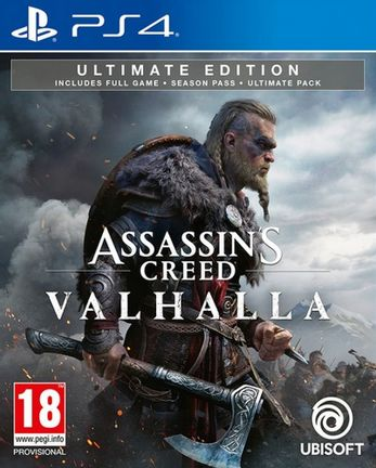 PS4 Assassin's Creed Valhalla Ultimate Edition incl. Season Pass and Ultimate Pack