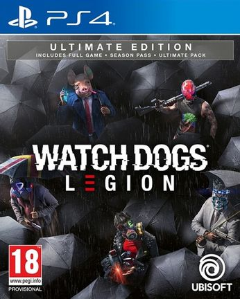 PS4 Watch Dogs Legion Ultimate Edition incl. Season Pass and Ultimate Pack