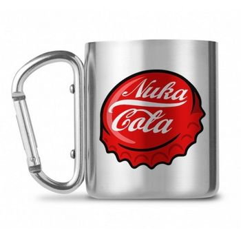 Fallout - Nuka Cola Stainless Steel Carabiner Mug, 250ml