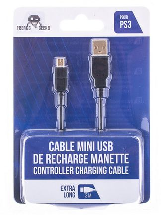 Freaks and Geeks USB to Mini-USB Charging Cable, 3m (PS3)
