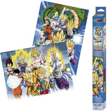 Chibi Posters 2-Pack: Dragon Ball Z - Groups, 52x38cm