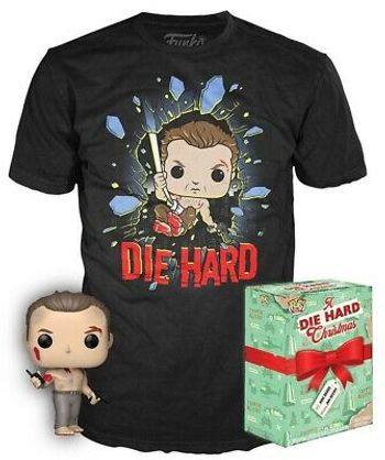 POP and Tee Box: Die Hard - John McClane Vinyl Figure and T-Shirt, Black Size S