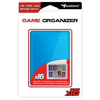 Subsonic Game Organizer for 16 Gamecards - Blue (Switch)