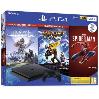 PlayStation 4 Slim 500 GB - Horizon Zero Dawn, Marvel's Spider-Man and Ratchet and Clank Bundle