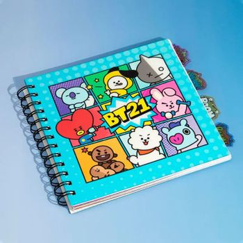 Notebook BT21 - Characters, Wired with Dividers