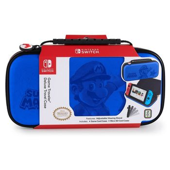 RDS Game Traveler: Deluxe Travel Case - Super Mario Edition Blue (Switch)