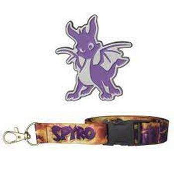 Spyro The Dragon - Spyro Pin Badge and Lanyard 2-Pack
