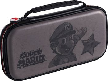 RDS Game Traveler: Deluxe Travel Case - Super Mario Edition Grey (Switch)