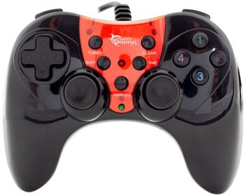 White Shark Red Dragon Gamepad Wired - Black/Red (PC)