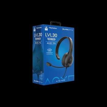 PDP Gaming LVL 30 Chat Headset Wired - Black (PS4)