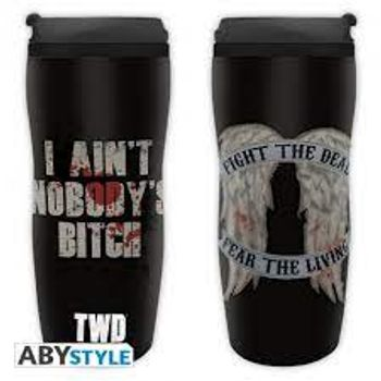 Walking Dead - Daryl Wings Plastic Travel Mug, 350ml