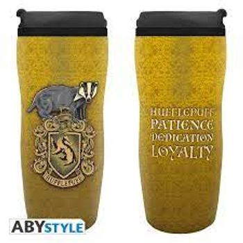 Harry Potter - Hufflepuff Plastic Travel Mug, 350ml