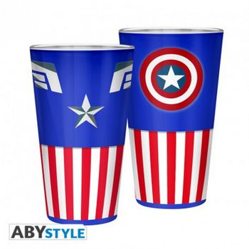 Marvel - Captain America Large Glass, 400ml