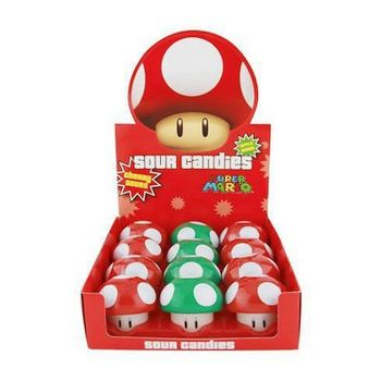 Super Mario - Mushroom Cherry and Apple Sour Candies Assortment