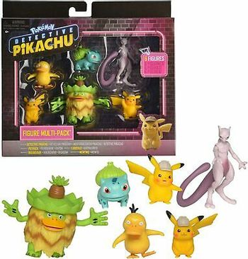 Pokemon - Detective Pikachu Figures 6-Pack