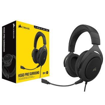 Corsair HS60 Pro Surround Gaming Headset - Black (All Consoles, PC)