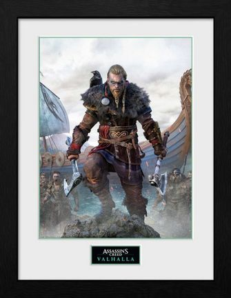 Framed Print: Assassin's Creed Valhalla - Standard Edition Cover, 30x40cm