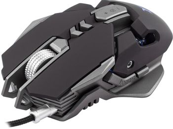 White Shark Shaka Zulu Gaming Mouse Wired - Black/Silver (PC)