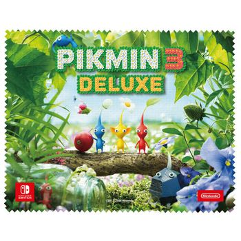 Switch Screen Cleaning Cloth - Pikmin 3 Deluxe, 19x15cm
