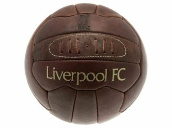 Liverpool FC - Retro Heritage Leather Ball, Size 5