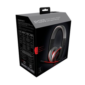 Gioteck XH100S Gaming Stereo Headset - Grey/Red (PS4, Xbox One, PC)