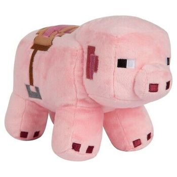 Minecraft: Adventure - Saddled Pig Plush, 25cm