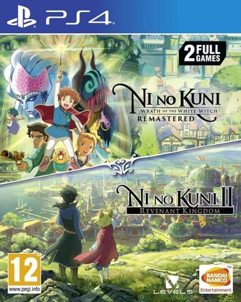 PS4 Ni no Kuni: Wrath of the White Witch Remastered and Ni no Kuni II Double Pack