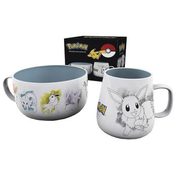 Breakfast Set: Pokemon - Eevee Mug and Bowl