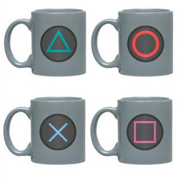 Espresso Set: PlayStation - Buttons Mini Mugs 4-Pack