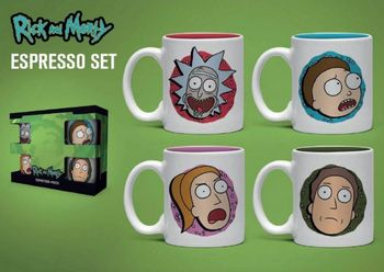 Espresso Set: Rick and Morty - Characters Mini Mugs 4-Pack