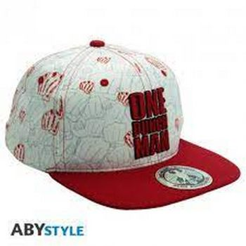 Snapback Cap: One Punch Man - Punches, Biege/Red