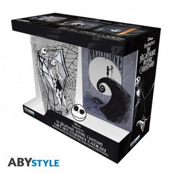 Gift Box: Nightmare Before Christmas - Jack Large Glass (400ml), Pin and Notebook (A6)