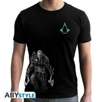 T-Shirt Assassin's Creed Valhalla - Viking, Black Size S